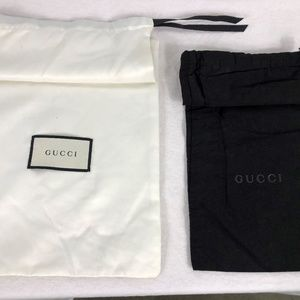 Lot of 2 Gucci Dust Bags White & Black